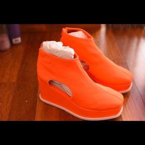 NEW Jeffrey Campbell orange booties