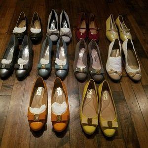 10 Pairs of shoes, Ferragamo / Stuart Weitzman