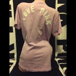 Vs/pink Logo Lace Up Campus Tee