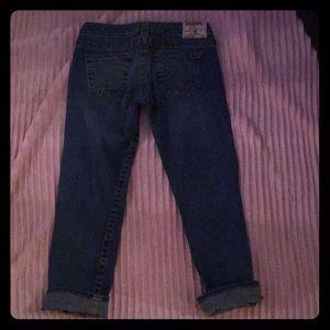 True Religion Lizzy crop Capri jeans. Size 27
