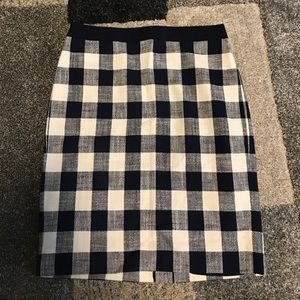JCREW Navy Skirt NWT