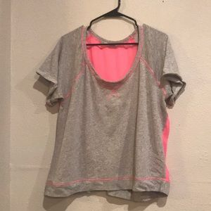 Pink and gray shirt size extra-large