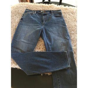 Ann Taylor Loft High Waist Skinny Ankle Jeans Sz 8