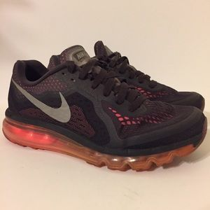 Nike Air Max 2014 Black Pink Womens Size 8