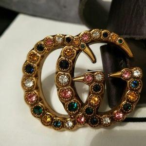 😍Authentic Gucci Belt Multicolor Jewels Buckle