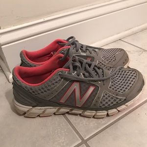 New Balance Grey and Pink Sneakers