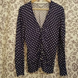 Old Navy Cardigan - blue with white polka dots 💜