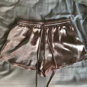 Pants - Satin pink shorts. High waisted