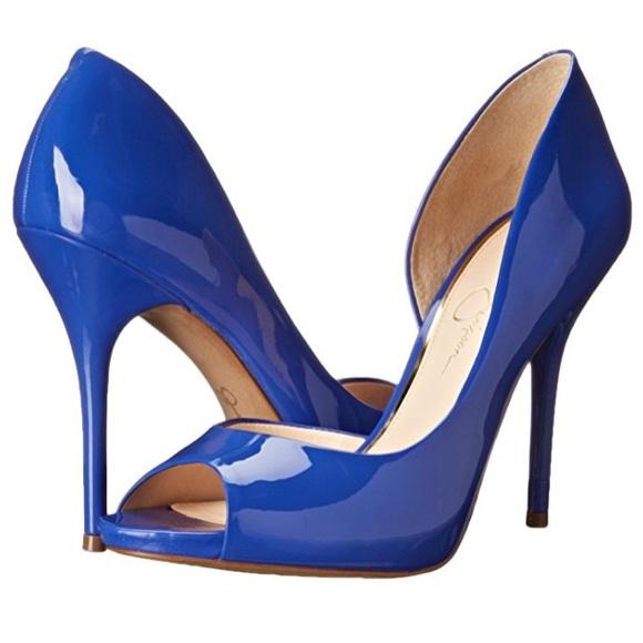 Nwot Cobalt Blue Peep Toe Pumps