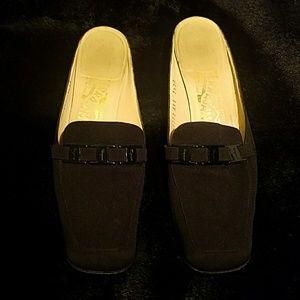 FERRAGAMO slide in loafers, size 7 1/2 2A