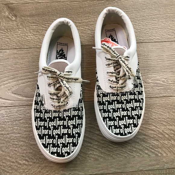 6818d46aac6 Fear Of God Vans Era 97 Black   White 2017 Release