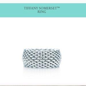 Tiffany @ Co Mesh Silver Ring