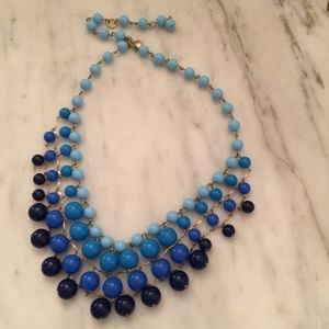 J. Crew Gradient Blue Waterfall necklace