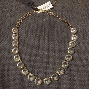 NWT J.Crew circular gem statement necklace