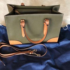 Dooney & Bourke olive green leather handbag