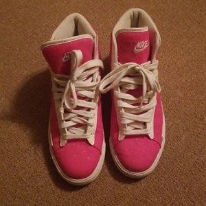 Hot Pink Nike Hightops