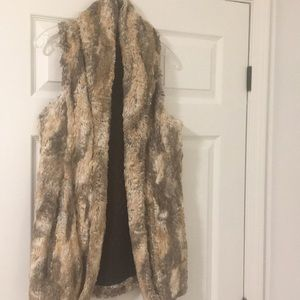 alice and olivia fur vest