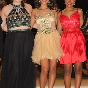 Dresses & Skirts - Gold beautiful homecoming dress