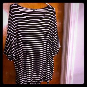 Striped Bell Sleeve Tunic
