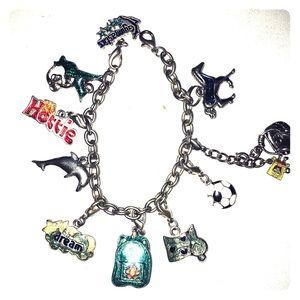 Vintage 10 Charms Bracelet