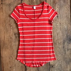 Striped Old Navy scoop Neck t-shirt Small