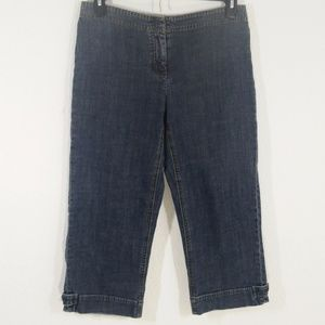 CAbi Size 8 Button Hem Jeans #103