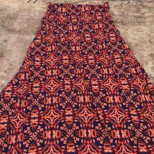 Small tie dye, maxi skirt