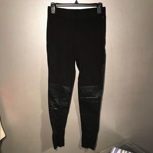 Forever 21: Black Leather Leggings