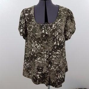 Lane Bryant lace print top blouse