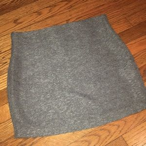 BCBG Grey Mini skirt