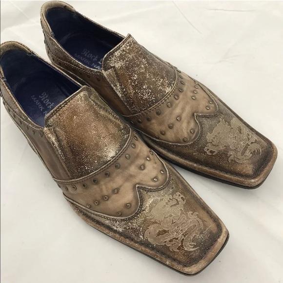 070ccb5bd15 Mark Nason Rock Lives Tan Distressed Loafer Shoes.  M 5a14fc5099086af9f901627f