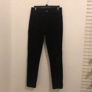 BDG HIGH RISE black cropped corduroy pants