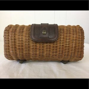 Tommy Bahama Wicker Clutch Handbag