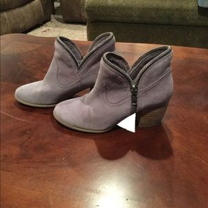Lavender Chinese laundry booties