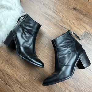 Madewell Black Leather Ames Boots
