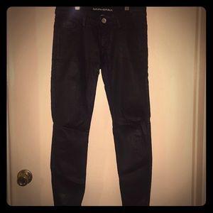 Banana Republic shiny black jeans