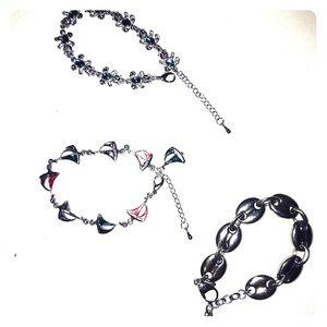 3 Vintage Charming Bracelets