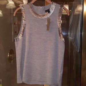 New JCrew merino wool blend sequin vest