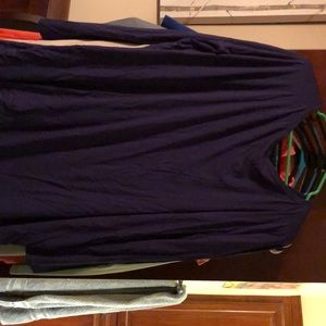 Long sleeve classic piko in navy, only worn once
