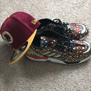 Adidas shoe with redskin hat