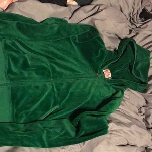 Juicy Couture Green Zip Up
