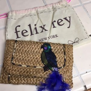 Felix Rey New York woven clutch