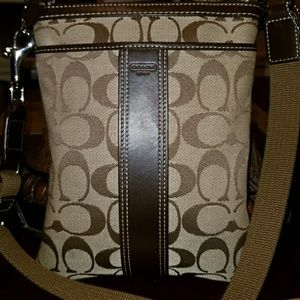 Signature coach crossbody