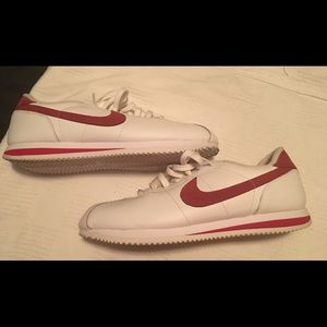 Men's  size 12 Nike Red and White Cortez like new
