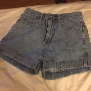 The Gap high waisted stone wash denim shorts 25
