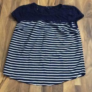 Gap size Medium Nautical Blue Striped Tee Top