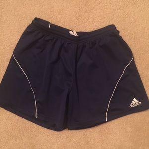 Women's Navy Adidas Climalite Active Shorts
