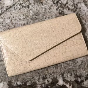 Crocodile print clutch