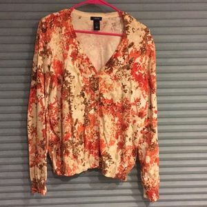 Izod floral cardigan sweater