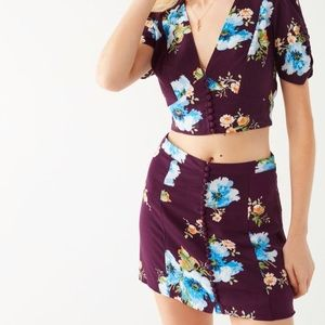 ISO: UO Royce covered button mini skirt